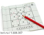 Купить «Судоку», фото № 1608307, снято 28 марта 2010 г. (c) Антон Стариков / Фотобанк Лори