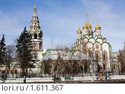 Купить «Москва. Церковь Николы в Хамовниках.», фото № 1611367, снято 13 февраля 2010 г. (c) Михаил Ворожцов / Фотобанк Лори