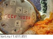 Купить «Приземление в тайге спускаемого аппарата (постановка)», фото № 1611851, снято 27 марта 2010 г. (c) Вадим Закревский / Фотобанк Лори