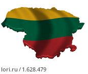 Купить «Литва карта страна флаг», иллюстрация № 1628479 (c) Савельев Андрей / Фотобанк Лори
