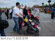 Купить «Девятого мая на Поклонной горе в Парке Победы. Москва», эксклюзивное фото № 1633519, снято 9 мая 2009 г. (c) lana1501 / Фотобанк Лори