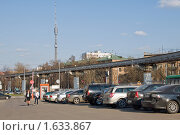 Монорельсовая дорога, эксклюзивное фото № 1633867, снято 12 апреля 2010 г. (c) Константин Косов / Фотобанк Лори
