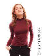 Купить «Портрет рыжеволосой девушки», фото № 1639567, снято 24 марта 2010 г. (c) BestPhotoStudio / Фотобанк Лори