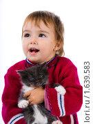 Купить «Девочка и кот», эксклюзивное фото № 1639583, снято 16 октября 2009 г. (c) Куликова Вероника / Фотобанк Лори