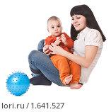 Счастливые мама и ребенок. Стоковое фото, фотограф Светлана Широкова / Фотобанк Лори