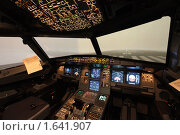Купить «Кабина самолета», фото № 1641907, снято 25 марта 2010 г. (c) Мишурова Виктория / Фотобанк Лори