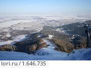 Вид с горы Церковка на Белокуриху. Стоковое фото, фотограф Станислав Горбачев / Фотобанк Лори