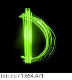 Купить «Зеленая английская буква D», фото № 1654471, снято 21 мая 2018 г. (c) Олег Кириллов / Фотобанк Лори