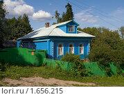 Купить «Плёс. Синий дом», фото № 1656215, снято 4 июня 2020 г. (c) Окапи Вячеслав / Фотобанк Лори