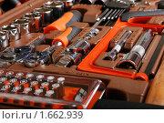 Купить «Набор слесарных инструментов», фото № 1662939, снято 20 апреля 2010 г. (c) Дмитрий Яковлев / Фотобанк Лори