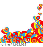 Красные сердечки. Праздничная открытка. Стоковая иллюстрация, иллюстратор Королева Елена Викторовна / Фотобанк Лори