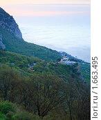 Купить «Церковь Вознесения Христова на вершине горы. Форос. Крым.», фото № 1663495, снято 7 мая 2009 г. (c) Юрий Брыкайло / Фотобанк Лори