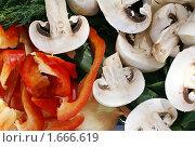 Купить «Грибы и овощи», фото № 1666619, снято 17 апреля 2010 г. (c) Irina Opachevsky / Фотобанк Лори