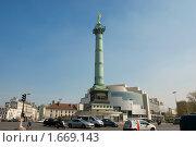 Купить «Площадь Бастилии в Париже», фото № 1669143, снято 19 апреля 2010 г. (c) Елена Хоткина / Фотобанк Лори