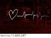 Купить «Рисование замороженным светом - ритм сердца», фото № 1669347, снято 22 марта 2010 г. (c) Шарабарин Антон / Фотобанк Лори