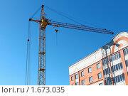 Строительство кирпичного дома. Стоковое фото, фотограф Николай Венедиктов / Фотобанк Лори