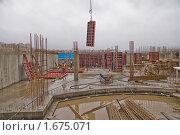 Строительная площадка с опалубкой, фото № 1675071, снято 28 октября 2008 г. (c) Артем Костров / Фотобанк Лори