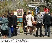Купить «Выставка картин», фото № 1675083, снято 1 мая 2010 г. (c) Зуев Андрей / Фотобанк Лори