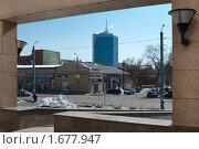 Купить «Вид на город Челябинск из арки краеведческого музея», фото № 1677947, снято 21 марта 2010 г. (c) Кекяляйнен Андрей / Фотобанк Лори