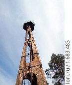 Купить «Триангуляционная вышка. Вид снизу.», фото № 1683483, снято 25 апреля 2010 г. (c) Евгений Ткачёв / Фотобанк Лори