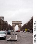 Париж, Триумфальная Арка (2006 год). Редакционное фото, фотограф Татьяна Крамаревская / Фотобанк Лори