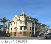 Купить «Дом на перкрестке в Сан-Франциско», фото № 1686059, снято 5 февраля 2008 г. (c) Валентина Троль / Фотобанк Лори