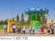 Купить «Карусель на ВВЦ (ВДНХ)», эксклюзивное фото № 1687735, снято 8 мая 2010 г. (c) Алёшина Оксана / Фотобанк Лори