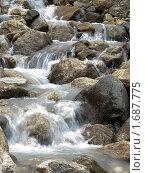 Горный ручей текущий между камней. Стоковое фото, фотограф Александр Евсюков / Фотобанк Лори