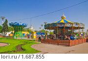 Купить «Карусель на ВВЦ (ВДНХ)», эксклюзивное фото № 1687855, снято 8 мая 2010 г. (c) Алёшина Оксана / Фотобанк Лори
