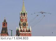 Москва, парад 9 мая 2010 года. Стоковое фото, фотограф Дмитрий Неумоин / Фотобанк Лори