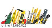 Купить «Рабочие инструменты на белом фоне», фото № 1696023, снято 17 сентября 2019 г. (c) Яков Филимонов / Фотобанк Лори