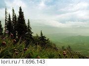 Купить «Вид на долину после дождя. Горная Шория. Шерегеш с горы Зеленая», эксклюзивное фото № 1696143, снято 28 июля 2006 г. (c) Александр Павлов / Фотобанк Лори