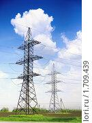 Купить «Линии электропередачи - ЛЭП», фото № 1709439, снято 10 мая 2010 г. (c) Vitas / Фотобанк Лори