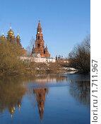 Вид с пруда на Черниговский скит (2008 год). Стоковое фото, фотограф Дарья Суворова / Фотобанк Лори