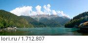 Купить «Озеро Рица, Абхазия», фото № 1712807, снято 26 апреля 2018 г. (c) Юрий Анохин / Фотобанк Лори