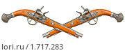 Купить «Два перекрещенных пистолета эпохи морских пиратов», фото № 1717283, снято 22 февраля 2009 г. (c) pzAxe / Фотобанк Лори