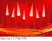 Купить «Новый год светящиеся ёлки», иллюстрация № 1718775 (c) Светлана Арешкина / Фотобанк Лори