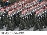 Купить «Москва - 6 мая 2010. 5-я общевойсковая мотострелковая бригада. Генеральная репетиция военного парада в честь 65-й годовщины Победы в Великой Отечественной войне на Красной Площади в Москве», фото № 1720039, снято 6 мая 2010 г. (c) Максим Лоскутников / Фотобанк Лори