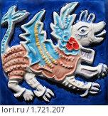 Керамический изразец с изображением Семаргла. Ярославская майолика, фото № 1721207, снято 19 мая 2010 г. (c) Заноза-Ру / Фотобанк Лори