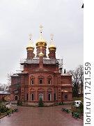 Церковь на реставрации в Сергеев Посаде (2010 год). Стоковое фото, фотограф Константин Мартынов / Фотобанк Лори