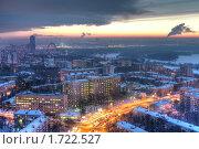 Купить «Закат в морозной Москве», фото № 1722527, снято 27 января 2010 г. (c) Kremchik / Фотобанк Лори