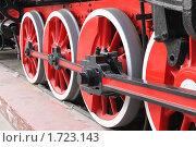 Колеса старого паровоза. Стоковое фото, фотограф Максим Боровков / Фотобанк Лори