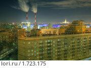 Купить «Две трубы ТЭЦ в Москве», фото № 1723175, снято 3 марта 2010 г. (c) Kremchik / Фотобанк Лори