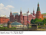 Купить «Манежная площадь. Кремль. Исторический музей», эксклюзивное фото № 1723527, снято 15 мая 2010 г. (c) Алёшина Оксана / Фотобанк Лори