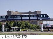 Купить «Москва. Монорельсовый транспорт.», фото № 1725175, снято 21 мая 2010 г. (c) Владимир Ременец / Фотобанк Лори