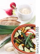 Вегетарианская окрошка на квасе, фото № 1728055, снято 10 мая 2010 г. (c) Лисовская Наталья / Фотобанк Лори