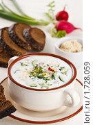 Купить «Вегетарианская окрошка на кефире», фото № 1728059, снято 12 мая 2010 г. (c) Лисовская Наталья / Фотобанк Лори