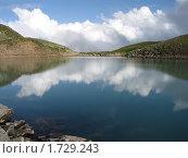 Высокогорное озеро на Кавказе (2008 год). Редакционное фото, фотограф Потолоков Роман Игоревич / Фотобанк Лори