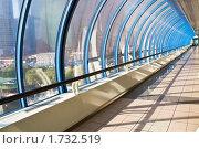 Купить «Стеклянный коридор. Мост Багратион, Москва», фото № 1732519, снято 21 сентября 2009 г. (c) Алексей Попов / Фотобанк Лори