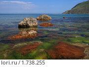 Купить «Вода и камни.Чёрное море.», эксклюзивное фото № 1738255, снято 30 апреля 2010 г. (c) Роман Рожков / Фотобанк Лори